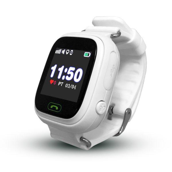 Smartwatch CALMEAN TOUCH z kartą SIM (kolor biały) Lokalizator GPS dla dziecka