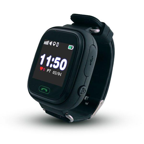 Smartwatch CALMEAN TOUCH z kartą SIM (kolor czarny) Lokalizator GPS dla dziecka