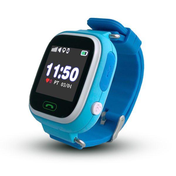 Smartwatch CALMEAN TOUCH z kartą SIM (kolor niebieski) Lokalizator GPS dla dziecka