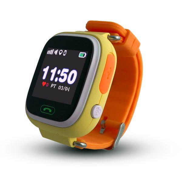 Smartwatch CALMEAN TOUCH z kartą SIM (kolor pomarańczowy) Lokalizator GPS dla dziecka