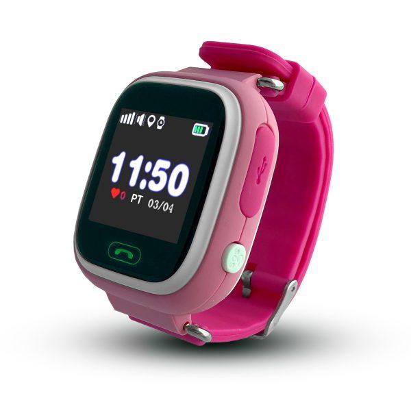 Smartwatch CALMEAN TOUCH z kartą SIM (kolor różowy) Lokalizator GPS dla dziecka