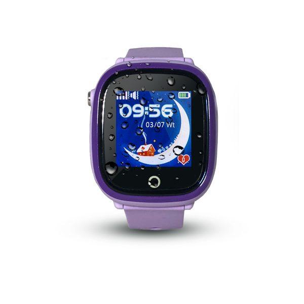 Smartwatch CALMEAN NEMO (kolor fioletowy) - Wodoodporny lokalizator GPS dla dziecka