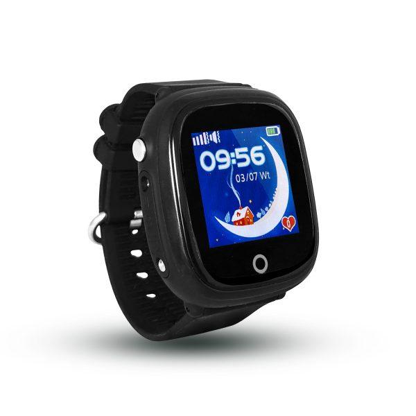Smartwatch CALMEAN NEMO z kartą SIM (kolor czarny) Wodoodporny lokalizator GPS dla dziecka