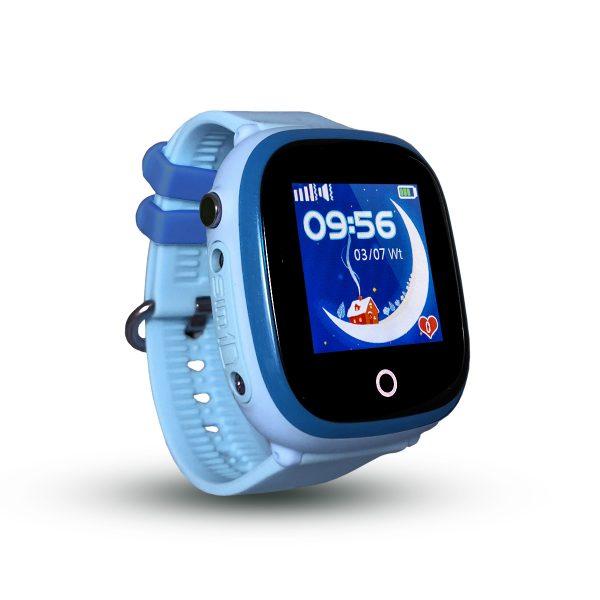 Smartwatch CALMEAN NEMO z kartą SIM (kolor niebieski) Wodoodporny lokalizator GPS dla dziecka
