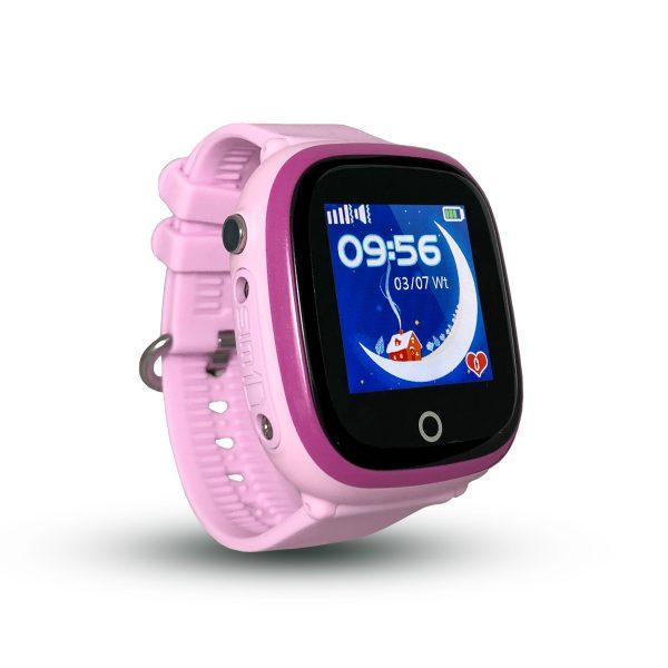 Smartwatch CALMEAN NEMO z kartą SIM (kolor fioletowy) Wodoodporny lokalizator GPS dla dziecka